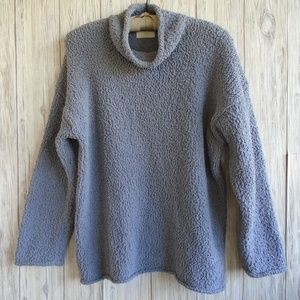 J.Jill Gray Chenille Sweater Size M